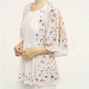 One September floral 3/4 slit sleeve size small